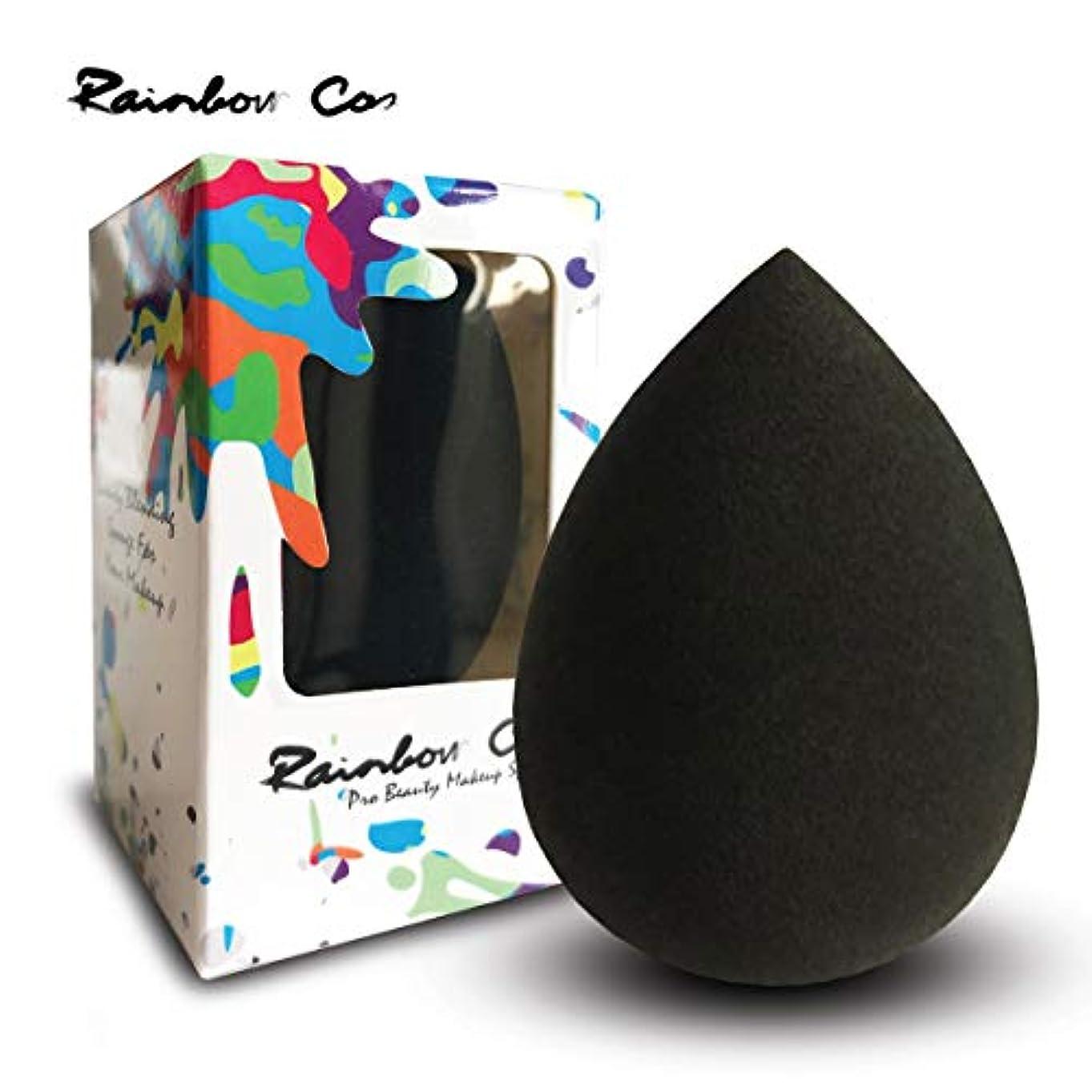 故意の警戒境界Rainbow Cos Premium Pro Makeup Sponge Beauty Foundation Sponge Blender for Applicator, Foundation and Highlight しずく型 メイクスポンジ ファンデーションスポンジ 非ラテックス 乾湿兼用メイクスポンジ