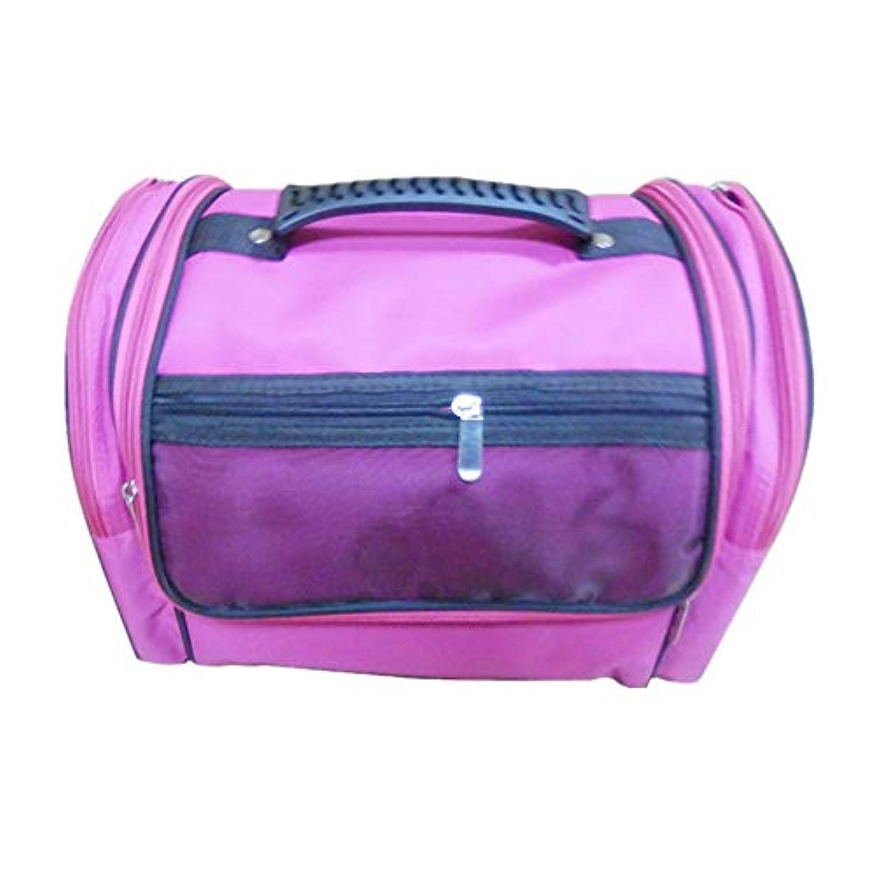 再開厳生化粧オーガナイザーバッグ 高容量カジュアルポータ??ブルキャンバス化粧品バッグ旅行のための美容メイクアップとジッパーで毎日のストレージ 化粧品ケース