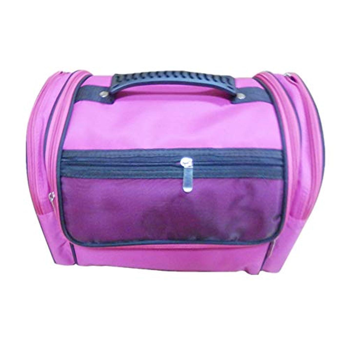 広大な貴重な奇跡化粧オーガナイザーバッグ 高容量カジュアルポータ??ブルキャンバス化粧品バッグ旅行のための美容メイクアップとジッパーで毎日のストレージ 化粧品ケース
