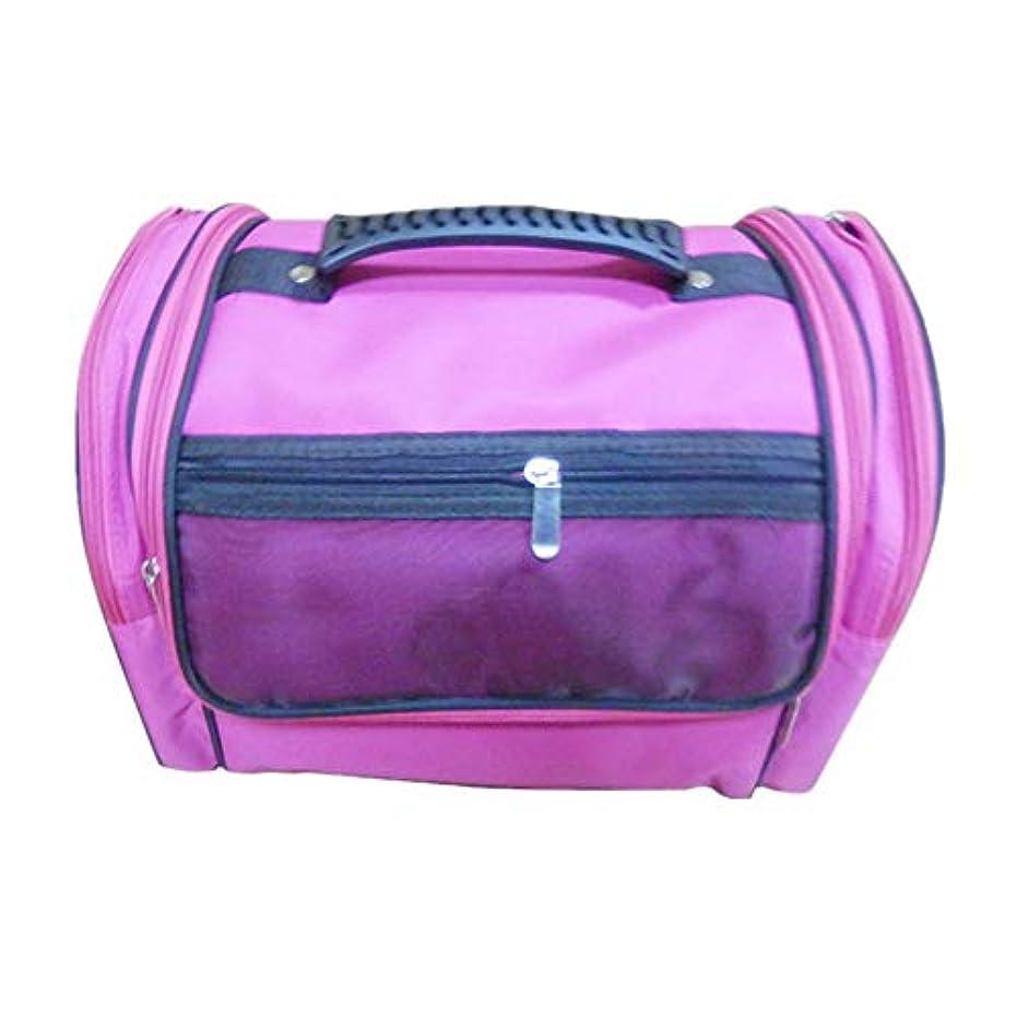 彼ら磁石引数化粧オーガナイザーバッグ 高容量カジュアルポータ??ブルキャンバス化粧品バッグ旅行のための美容メイクアップとジッパーで毎日のストレージ 化粧品ケース