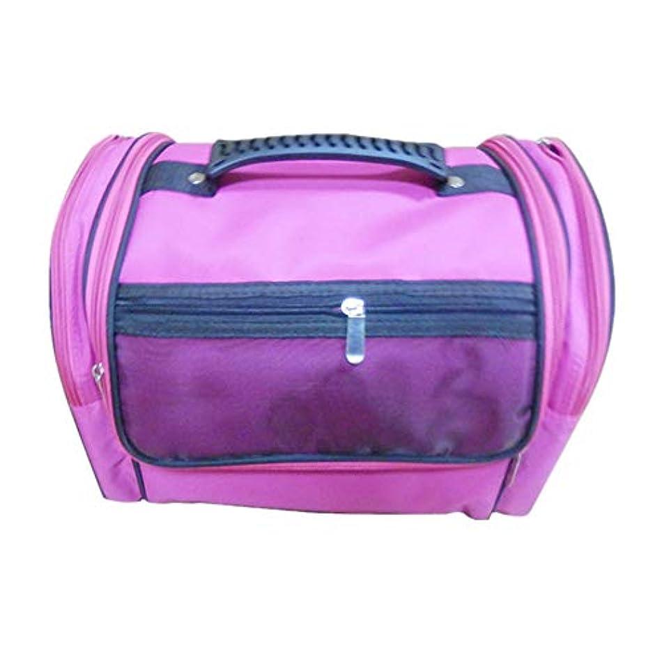 巡礼者説明するクラッチ化粧オーガナイザーバッグ 高容量カジュアルポータ??ブルキャンバス化粧品バッグ旅行のための美容メイクアップとジッパーで毎日のストレージ 化粧品ケース