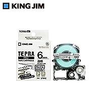 キングジム 「テプラ」PROテープカートリッジ キレイにはがせるラベル 透明/黒文字 6mm ST6KE