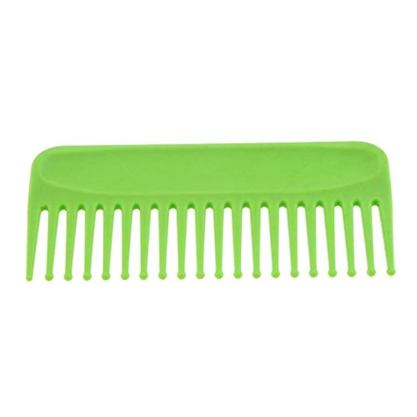 ハイライト乱雑なラップヘアブラシ ヘアコーム コーム 櫛 くし サロン ヘアケア 耐熱性 帯電防止 頭皮 マッサージ 丸いヘッド 4色選べる - 緑
