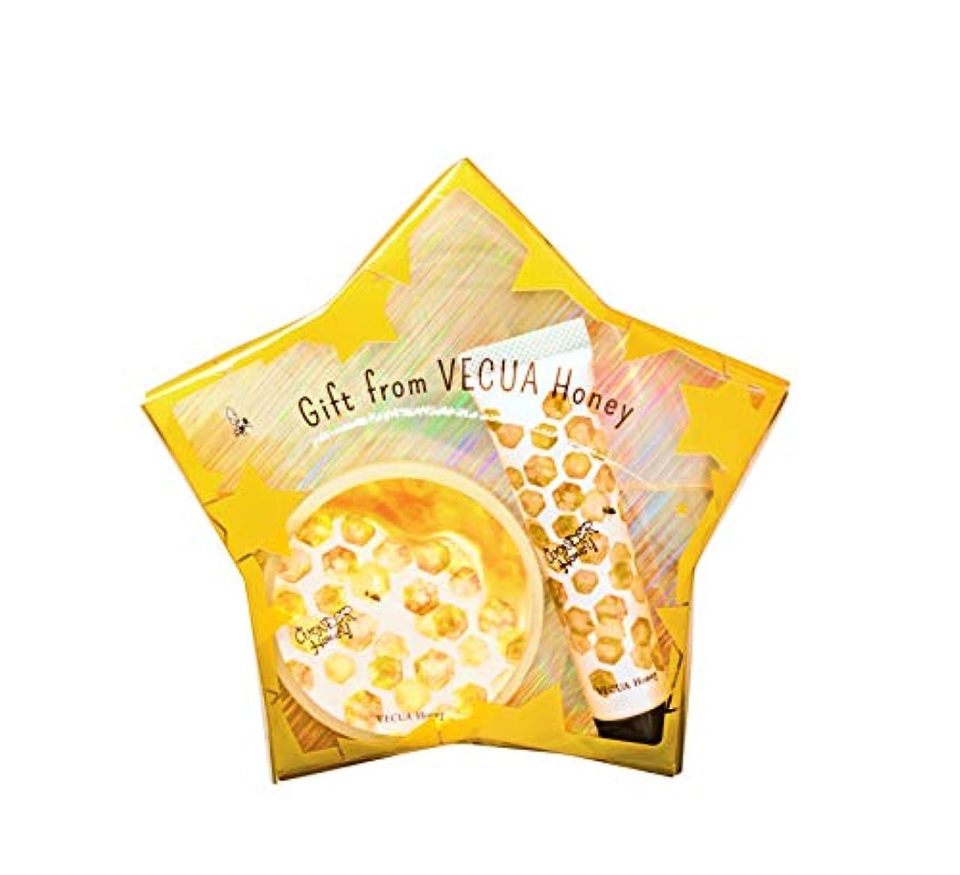 嫌悪市の花流用するベキュア ハニー(VECUA Honey) ワンダーハニー ギフトセット ハニーポット ボディクリーム 15g+47g