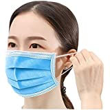 Disposable �������� Box of 50, 3-Ply Protective Anti Dust Breathable Medical Beauty Unisex Disposable Earloop Mouth Face ����������, One Size to Fit Most(Blue 50pcs)