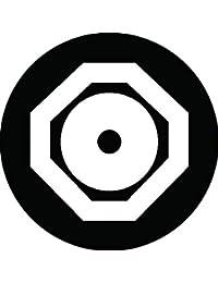 家紋シール 隅切り角に蛇の目紋 布タイプ 直径40mm 6枚セット NS4-0992