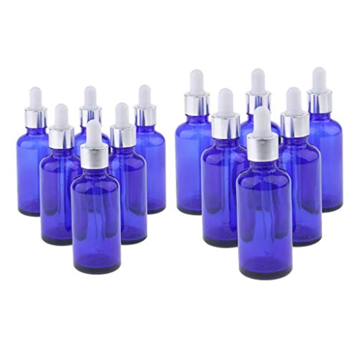 連続的批判連合Perfeclan 12個 2サイズ 精油ボトル スポイトボトル ガラス エッセンシャルオイル 香水 保存 詰替え