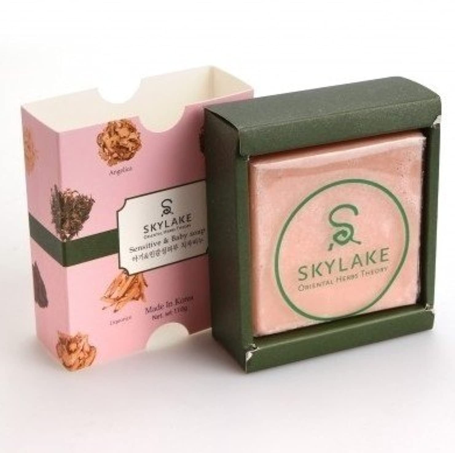 行為拡大する本会議ハヌルホス[Skylake] 漢方アロマ石鹸Oriental Herbs Theory Soap (子供?敏感肌用)