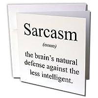 EvaDane–面白い引用–Sarcasm名詞の頭脳Defense Against the lessインテリジェントな。–グリーティングカード Individual Greeting Card