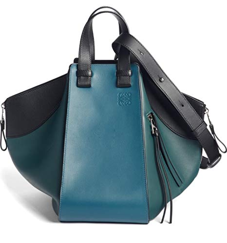 (ロエベ) LOEWE バッグ レディース スモールハンモック三色ペンシルレザーホーボー Petroleum Blue/Cypress (並行輸入品)