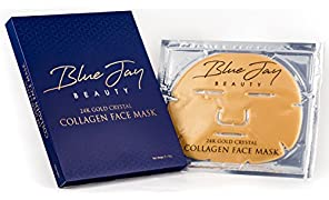 24k Gold Crystal Collagen Facial Face Mask for collagen renewal,anti aging and anti wrinkle facial treatment (Pack of 5)