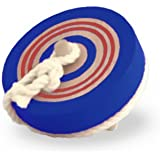 コマ 木のおもちゃ カラーなげこま 6cm ブルー