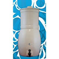 AquaCera aquavas Stoneware重力フィルターシステムwith 2CeraMetixフィルタ( Fluoride Reduction )