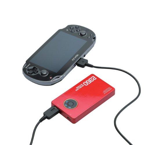 ELECOM PS Vita モバイルバッテリー リチウムイオン電池 2300mAh 2A出力 レッド GM-V01L-2320NRD