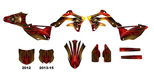 カワサキkx450F 2012–2015ダートバイクグラフィックスデカールキットby Allmotorgraphics no6666N