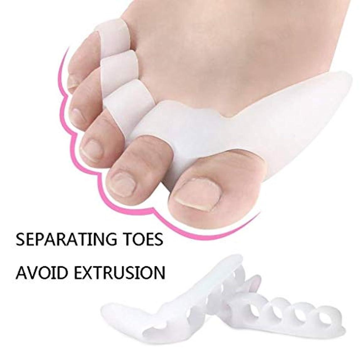北東ベーコンスラム街つま先セパレータ Bunion Toe Spreader Protector  足の痛みの軽減