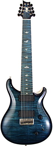 P.R.S. Private Stock #6419 Custom24 8-String Blue Tourmaline Smoke Burst