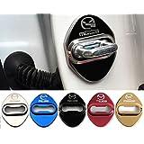 4枚セット 5色選択可 マツダ MAZDA ストライカー カバー ドアロック カバー 鏡面ステンレススト 全車種対応 マツダ社外品 (ゴールド)