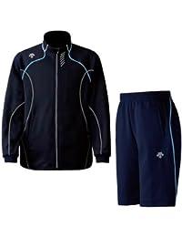 DESCENTE(デサント) メンズ トレーニング ジャケット?ハーフパンツ上下セット ネイビー×ブルー DTM1910B-DTM1911PB-UNB