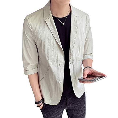 88043b8c30f5e9 WEEN CHARM テーラードジャケット メンズ 7分袖 サマージャケット 細身 ジャケット 春夏 タイト ジャケット