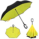 WONDER LABO (ワンダーラボ) 雨傘・日傘 兼用♪ とっても便利な逆さ傘 逆さ傘 傘 晴雨兼用 さかさ傘 さかさかさ さかさま傘 レディース メンズ 日焼け対策 UVカット 逆向き 逆さまの傘 長傘 濡れない [S140] (A柄)