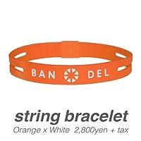 [バンデル・BANDEL]ストリングブレスレット・string bracelet(OrangexWhite・オレンジ×ホワイト)Mサイズ(17.5cm)