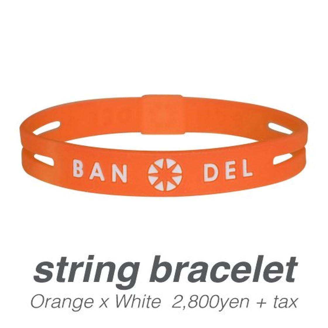かどうか霧乱暴な[バンデル?BANDEL]ストリングブレスレット?string bracelet(OrangexWhite?オレンジ×ホワイト)Lサイズ(19.0cm)