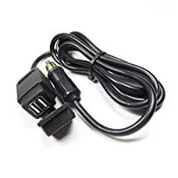 USB充電器for Motorcycle by decostain DIN Hella Plug to Usb Adapter ブラック usb-187