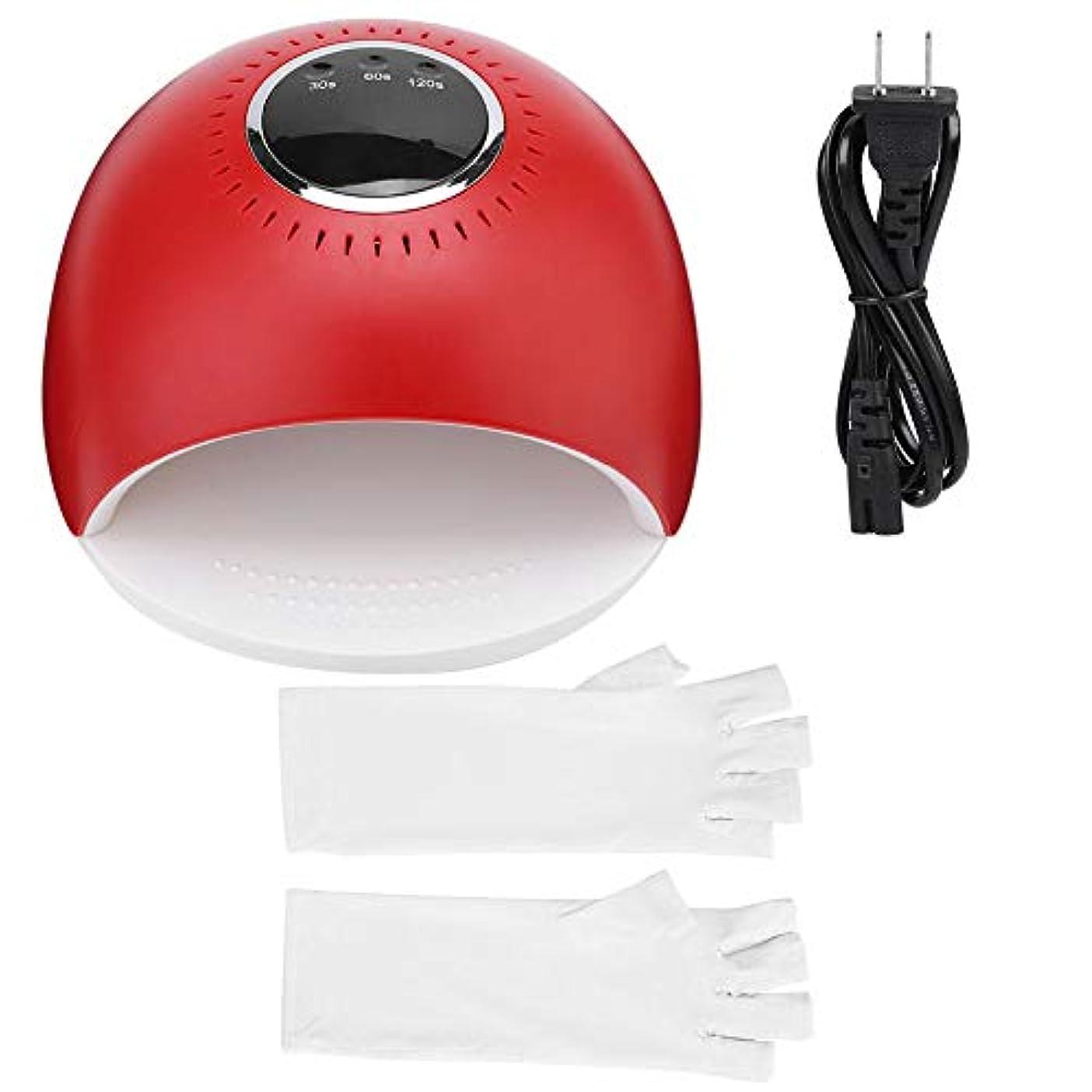 ために前任者斧ネイルドライヤー 爪用ネイル ネイルマニキュアツール 手袋付き ネイルドライヤー用 84W LED UV(04)