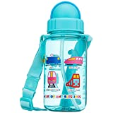 Simply Life - Train - BPA-free Tritan Bottle with Straw and Safety Release Strap (350ml)