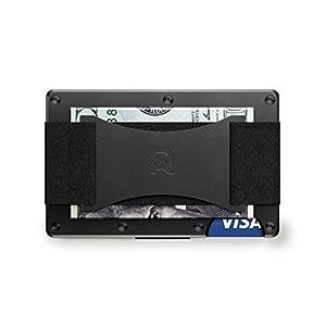 [ザ リッジ] the RIDGE スマートフォンよりも薄い財布 マネーバンド キャッシュ ストラップ アルミニウム ブラック