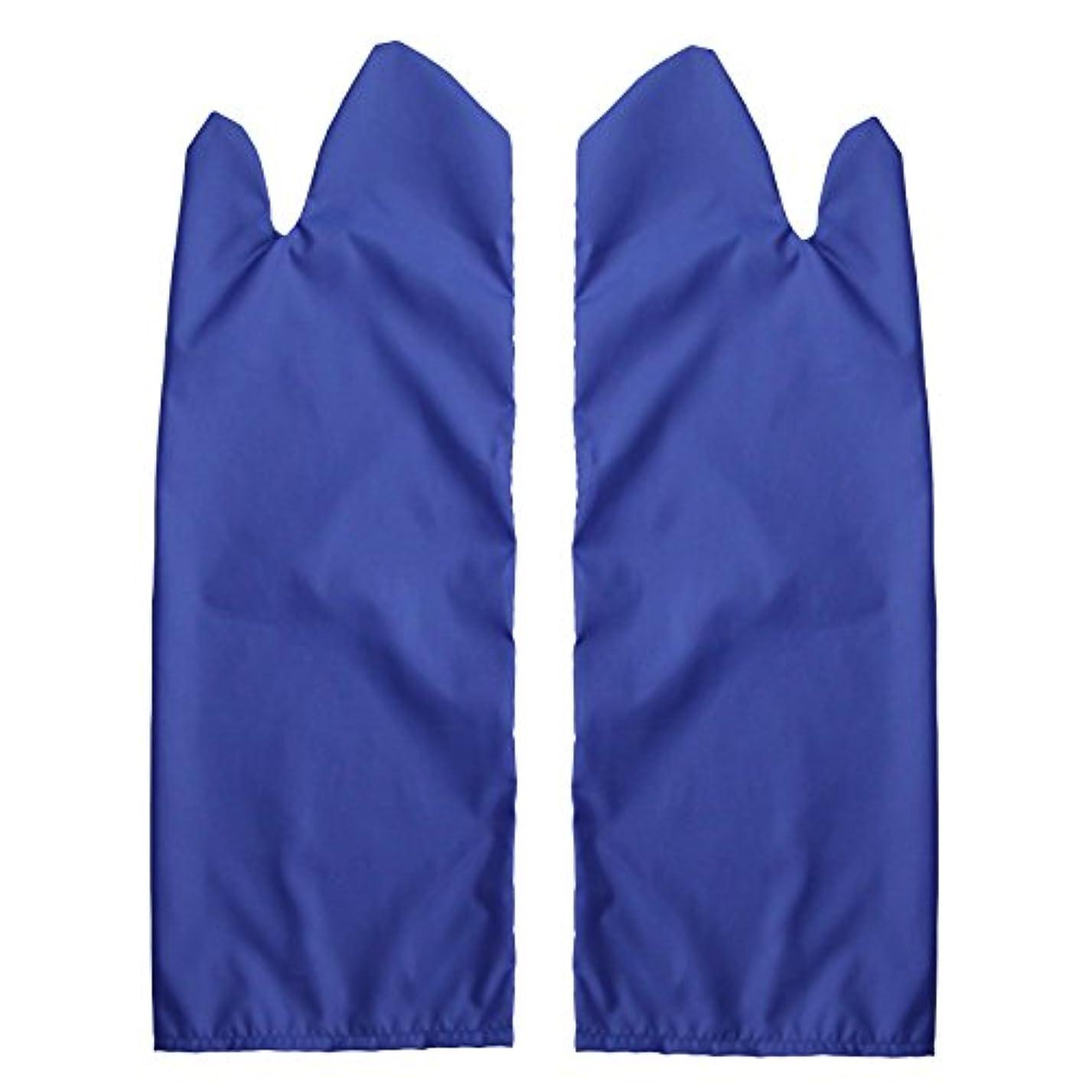 自分の力ですべてをする黒くする費やす体位変換用スライディンググローブ 撥水(ブルー) M /7-3681-03