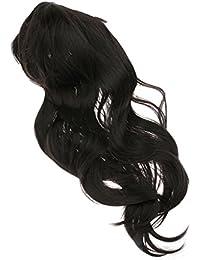 Dovewill 2色選べる 高品質 女性 カーリー パーマ かつら ぱっつん前髪 波状 ロング ウィッグ 耐熱 かわいい