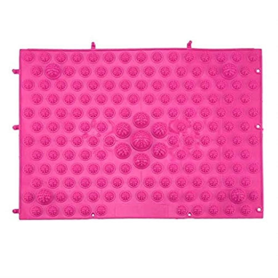 チチカカ湖パドル熟したマッサージクッション、指圧フットパッド、リフレクソロジーウォーキングマッサージパッド、痛みを和らげ、筋肉をリラックス37x27.5cm (Color : Rose Red)