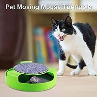 猫おもちゃ スクラッチポスト 遊ぶ盤 回転 ぐるぐる ネズミ付き マウス 引っ掻き 爪研ぎ 遊び用 スクラッチャー ひっかきボード 猫玩具 猫用品 ねこおもちゃ 猫じゃらし 猫運動不足 ストレス解消対策