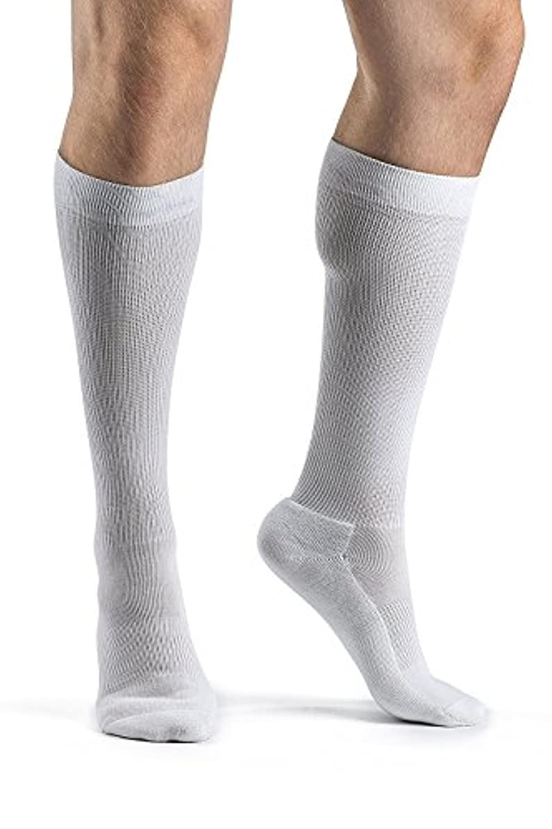 ぬるいたまに管理者Cushioned Cotton 15-20mmHg Closed Toe Men's Sock Size: A (6.5-8.5), Color: White 00 by Sigvaris