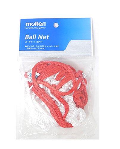 molten(モルテン) ボールネットボール1個入れ 白赤 BNDR