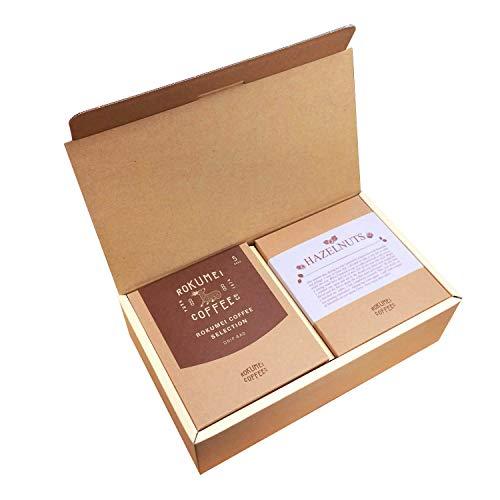 ロクメイコーヒー コーヒーギフト ヘーゼルナッツ & ドリップバッグ セレクション 5種 誕生日シール付き