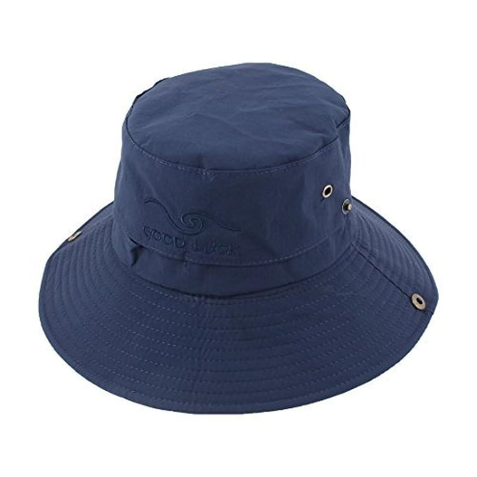 疑問に思う君主制グローバルDealMuxフィッシャーマンアウトドアスポーツハイキング調節可能なストラップは、つば広プロテクターバケツ夏帽子釣り帽子メッシュ