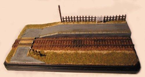 線路のある風景 手作りジオラマNo5 ケース付き Nゲージ(9ミリゲージ)