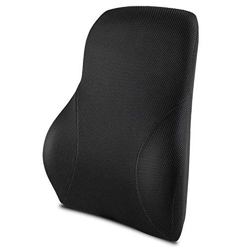 MOFIR ランバーサポート 低反発 背中 腰楽 オフィス 椅子 車用クッション 取付バンド調節可能 カバー洗える