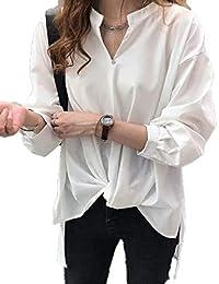 [アミュオン] レディース シャツ ブラウス オフィス 七分袖 長袖