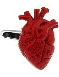 MRCUFF Heart Doctor Surgeon Pair Cufflinks in a Presentation Gift Box & Polishing Cloth