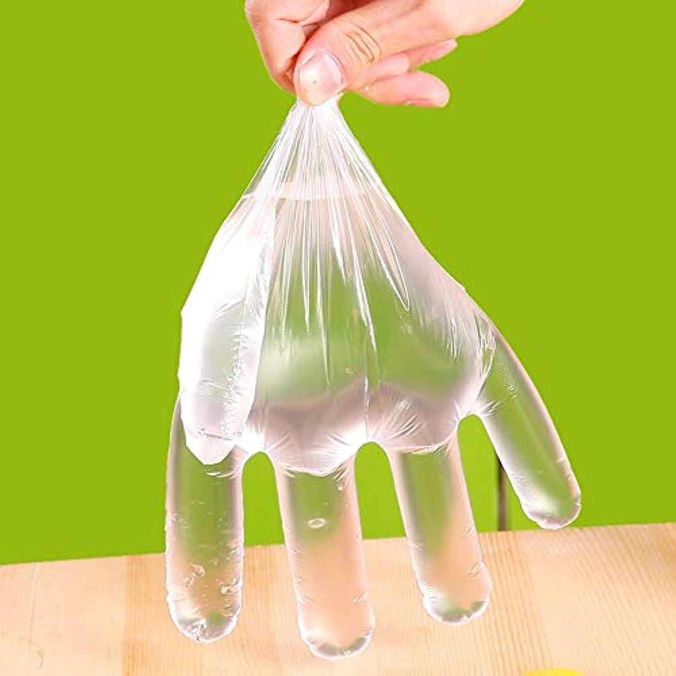 天才理解する逆Roman Center 使い捨て手袋 ビニール極薄手袋 調理 100枚入