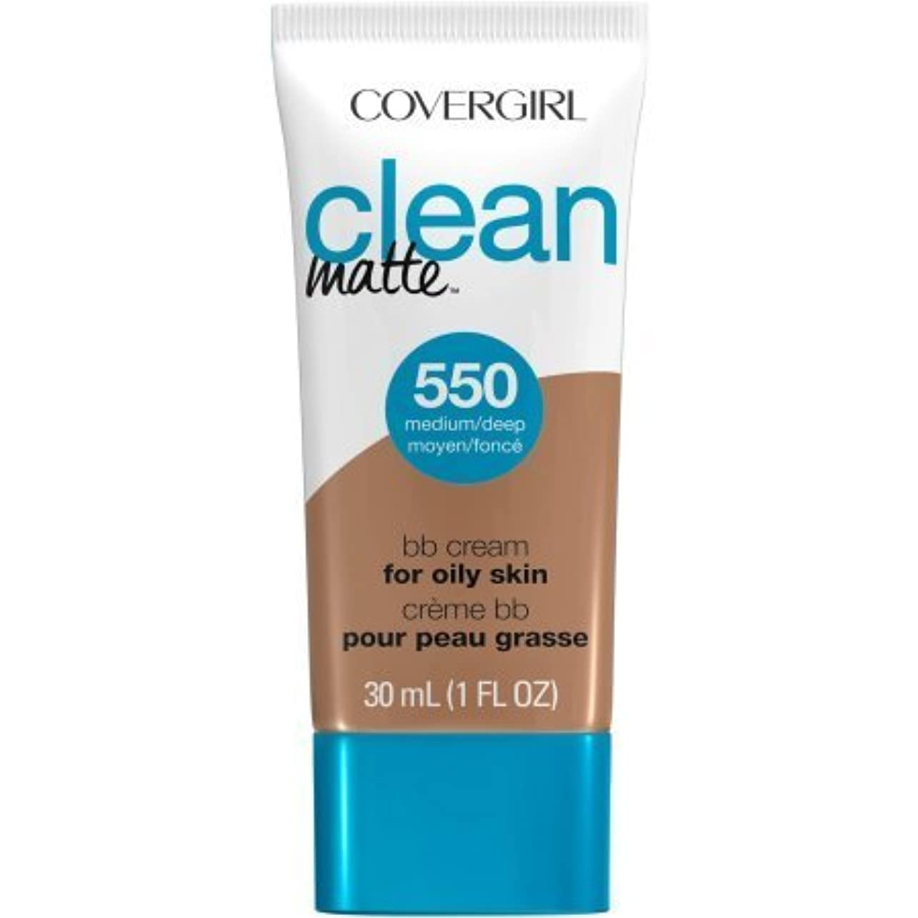 不毛噴水滑るCoverGirl Clean Matte BB Cream (Medium/Deep)