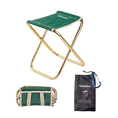 OMUKY折りたたみ椅子 アウトドアチェア 超軽量 コンパクト アルミ合金 超頑丈 持ち運びやすい 収納袋付き キャンプチェア アウトドア用 携帯椅子 (グリーン)
