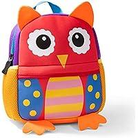 Toddler Backpack, Waterproof Children School Backpack, Neoprene Animal Schoolbag for Kids, Lunch Box Carry Bag for Boys Girls