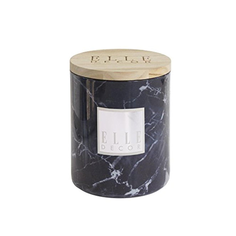 染料翻訳する抜本的なThe Jay Companies 大理石セラミックジャーキャンドル 16.6オンス 木製蓋付き ブラック 1136092BK