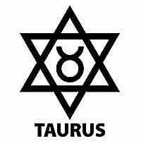 【TAURUS(おうし座)Ver.08 カッティングステッカー ミニサイズ 3枚組 幅約8.4cm×高約11cm】カラー:黒(ブラック)