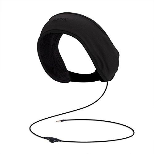 音楽ヘッドバンド ヘアーバンド 吸汗速乾 スポーツ用/運動用 3.5mm出力機器に対応 耐洗濯性 ブラック AGPTEK